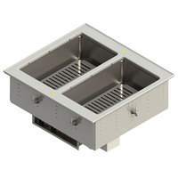 Vollrath FC-4DH-02120-T 2 Pan Drop-In Hot Food Well with Thermostatic Controls - 120V