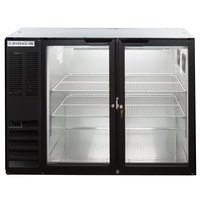 Beverage-Air BB48HC-1-G-B-ALT 48 inch Black Glass Door Back Bar Refrigerator with Left Side Compressor