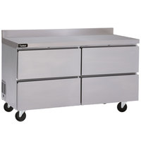 Delfield GUF60BP-D 60 inch ADA Height Worktop Freezer with Four Drawers