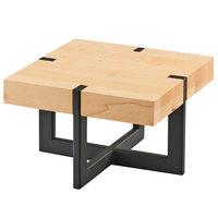 Cal-Mil 3641-9-71 9 1/2 inch x 9 1/2 inch x 6 inch Square Maple Riser