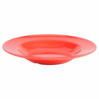 Thunder Group CR5811RD Orange 16 oz. Melamine Pasta Bowl - 12/Case