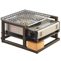 Cal-Mil 3915-84 Sierra Bronze Metal and Reclaimed Wood Butane Burner Frame - 14 1/2 inch x 13 inch x 7 3/4 inch
