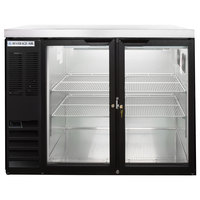 Beverage-Air BB48HC-1-G-B-27-ALT 48 inch Black Glass Door Back Bar Refrigerator with Stainless Steel Top and Left Side Compressor