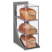 Cal-Mil 3815-83 Ashwood 3 Tier Gray Oak Wood Bread Case - 6 1/2 inch x 13 inch x 20 1/4 inch