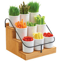 Cal-Mil 3638-60 Bamboo 14 1/2 inch x 13 inch x 12 1/4 inch Condiment Station