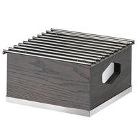 Cal-Mil 3814-83 Ashwood Gray Oak Wood Chafer Alternative - 10 inch x 10 inch x 5 1/2 inch