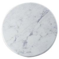 Cal-Mil 3656-12-81M 12 inch x 3/4 inch Carrara Marble Melamine Tray