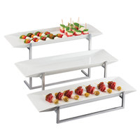 Cal-Mil SR3661-49 Three Tier Display with Three Melamine Platters - 23 inch x 24 1/2 inch x 12 inch