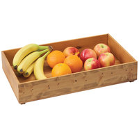 Cal-Mil 3682-2012-99 Madera 20 inch x 12 inch x 3 1/4 inch Wood Stacking Box