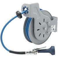 T&S B-7232-08M 35' Open Epoxy Coated Steel Hose Reel with B-0108 JeTSpray Spray Valve
