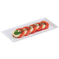 Cal-Mil 3654-15M 6 1/4 inch x 13 3/4 inch x 1 inch Rectangular White Melamine Tray