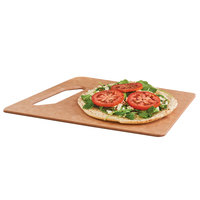 Cal-Mil 4002-812-14 12 inch x 8 inch Angled Natural Serving Board