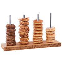 Cal-Mil 22008-4-60 Bamboo 4 Peg Bagel / Donut Display Stand