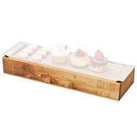 Cal-Mil 3699-623-99 Madera Cold Concept 23 inch x 7 3/4 inch x 3 1/2 inch Reclaimed Wood Frame with Cold Pack and Liner