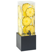 Cal-Mil 3697-3-96 Midnight Bamboo 3 Gallon Beverage Dispenser with Decorative Wall 8 1/4 inch x 9 3/4 inch x 25 3/4 inch