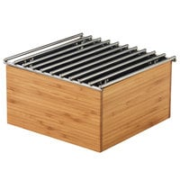 Cal-Mil 3440-60 Bamboo Chafer Alternative with Wire Grill - 9 3/4 inch x 9 3/4 inch x 5 1/2 inch