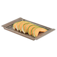 Cal-Mil 3672-915 Cold Concept 15 1/2 inch x 9 1/2 inch x 1 1/2 inch Aluminum Platter