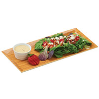 Cal-Mil 3654-60M 6 1/4 inch x 13 3/4 inch x 1 inch Rectangular Bamboo Melamine Tray