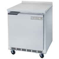 Beverage-Air WTF27AHC-FIP 27 inch Compact Worktop Freezer with 4 inch Foamed-In-Place Backsplash