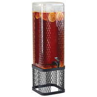 Cal-Mil 22001-3INF-13 Black Diamond 3 Gallon Beverage Dispenser with Infusion Chamber and Black Metal Mesh Base