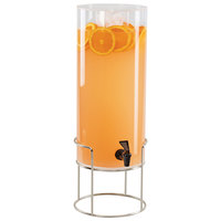Cal-Mil 22005-3-49 Mid Century 3 Gallon Round Beverage Dispenser with Ice Chamber and Chrome Wire Base