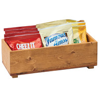 Cal-Mil 3682-125-99 Madera 12 inch x 5 inch x 3 1/4 inch Wood Stacking Box