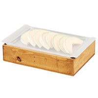 Cal-Mil 3699-915-99 Madera Cold Concept 14 1/2 inch x 10 1/4 inch x 3 1/2 inch Reclaimed Wood Frame with Cold Pack and Liner