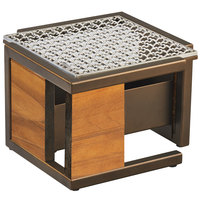 Cal-Mil 3916-84 Sierra Bronze Metal and Rustic Pine Chafer Alternative - 10 1/2 inch x 10 1/2 inch x 7 1/8 inch