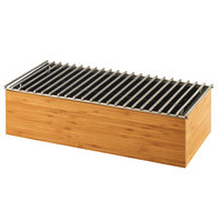Cal-Mil 3439-60 Bamboo Chafer Alternative with Wire Grill - 19 1/2 inch x 9 3/4 inch x 5 1/2 inch