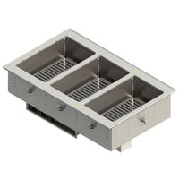 Vollrath FC-4DH-03120-T 3 Pan Drop-In Hot Food Well with Thermostatic Controls - 120V