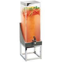 Cal-Mil 3804-3INF-83 Ashwood Gray Oak Wood 3 Gallon Beverage Dispenser with Infusion Chamber - 8 inch x 8 inch x 26 inch