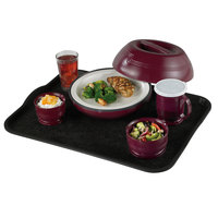 Cambro 1520VCRST382 20 inch x 15 inch Black Customizable Non-Skid Room Service Camtray - 12/Case