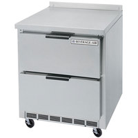 Beverage-Air WTFD27AHC-2-FIP 27 inch Two Drawer Worktop Freezer with 4 inch Foamed-In-Place Backsplash