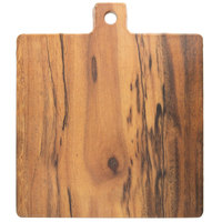 American Metalcraft AWM9 7 3/4 inch x 7 3/4 inch x 5/8 inch Square Melamine Serving Board - Faux Acacia