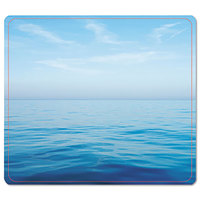 Fellowes 5903901 Blue Ocean Nonskid Base Recycled Mouse Pad