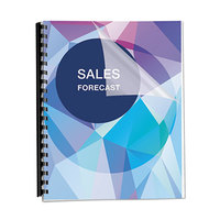 Fellowes 5242401 PET Ultra Clear 8 1/2 inch x 11 inch Clear Unpunched Binding Cover   - 100/Pack