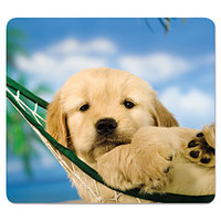 Fellowes 5913901 Puppy in Hammock Nonskid Base Recycled Mouse Pad