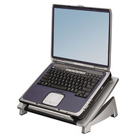 Fellowes 8032001 Office Suites 15 1/8 inch x 11 3/8 inch x 6 1/2 inch Black / Silver Adjustable Laptop Riser