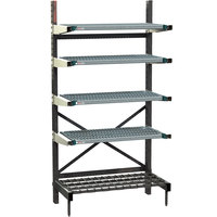 Metro SM762160-PRO-4 SmartLever Starter Unit with 4 Super Erecta Pro Shelves and Dunnage Base - 25 inch x 64 inch x 76 inch