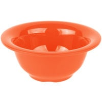 Carlisle 4303852 Durus 10 oz. Sunset Orange Rimmed Melamine Nappie Bowl - 24/Case