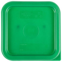Cambro SFC2452 Kelly Green Square Polyethylene Lid for 2 and 4 Qt. Food Storage Containers