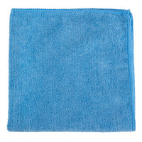 16 inch x 16 inch Blue Microfiber Cleaning Cloth
