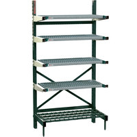 Metro SM762160-NK3-4 SmartLever Starter Unit with 4 Super Erecta Metroseal 3 Shelves and Dunnage Base - 25 inch x 64 inch x 76 inch
