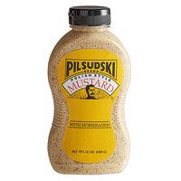Pilsudski 12 oz. Polish Style Horseradish Mustard Squeeze Bottle - 12/Case