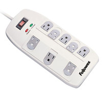 Fellowes 99015 Superior Workstation 6' White 8-Outlet Surge Protector, 2160 Joules