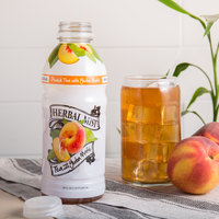 Herbal Mist 20 oz. Sweetened Peach Iced Tea with Yerba Mate   - 12/Case