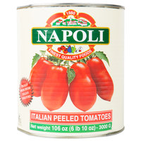 Napoli Foods #10 Canned Whole Peeled Italian Tomatoes - 6/Case