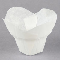 Hoffmaster 611110 1 1/4 inch x 2 1/4 inch White Lotus Baking Cups - 250/Pack