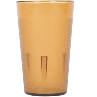 5 oz. Amber SAN Plastic Pebbled Tumbler - 12/Pack