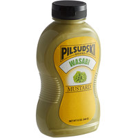 Pilsudski 12 oz. Wasabi Mustard Squeeze Bottle   - 12/Case